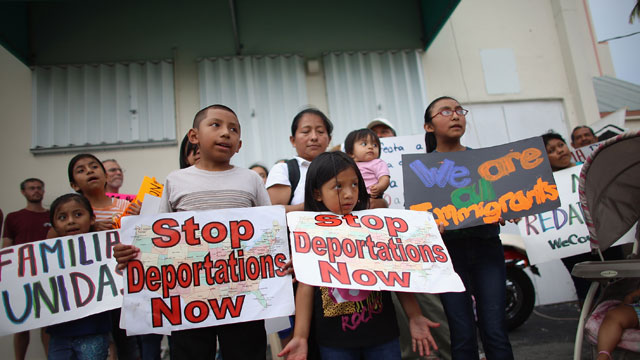 PHOTO:Children participate in a rally calling on President Obama to suspend deportations and for Congress to pass an immigration reform that?s inclusive of all 11 million undocumented people in the U.S. on May 11, 2013 in Homestead, Florida.