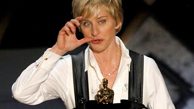 PHOTO:Ellen is hosting the Oscars! Woo, etc!