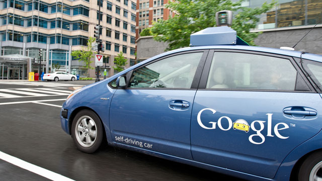 PHOTO: The Google self-driving car maneuvers through the streets of Washington, DC, May 14, 2012.