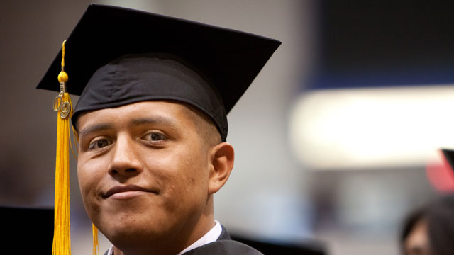 PHOTO:Hispanic high school dropout rates have declined since 2000, according to a new Pew Research Center analysis, and college enrollment rates have increased.