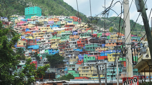 PHOTO: Brightly colored shantytown in the Jalousie neighborhood of Port-au-Prince, Haiti.