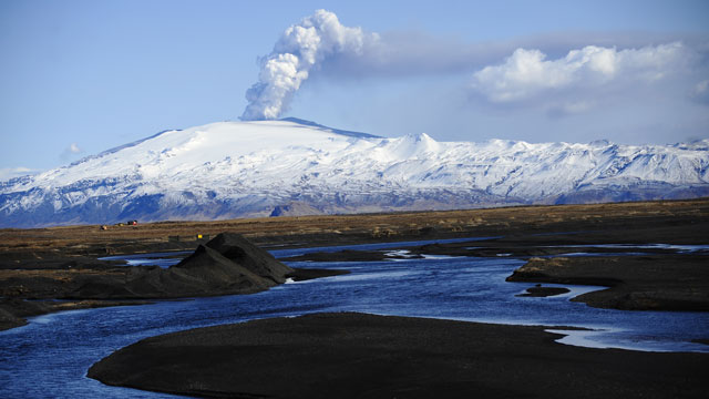 PHOTO: The Eyjafjallajökull volcano in Iceland.