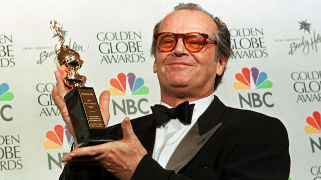 PHOTO: Actor Jack Nicholson holds the award he received