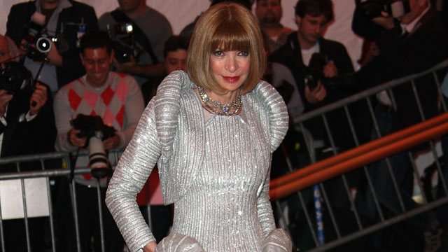 PHOTO: Editor-In-Chief of Vogue Anna Wintour arrives to the Metropolitan Museum of Art Costume Institute Gala, Superheroes: Fashion and Fantasy, held at the Metropolitan Museum of Art on May 5, 2008 in New York City.