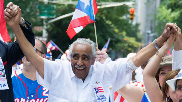 PHOTO:U.S. Representative for New York Charles Rangel attends the National Puerto Rican Day Parade on the streets of Manhattan on June 10, 2012 in New York City.