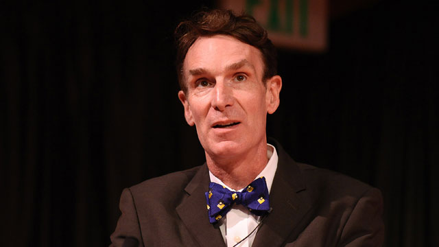 PHOTO:Bill Nye attends the National Read For The Record Day's press conference at the Los Angeles Public Library on October 8, 2009 in Los Angeles, California.