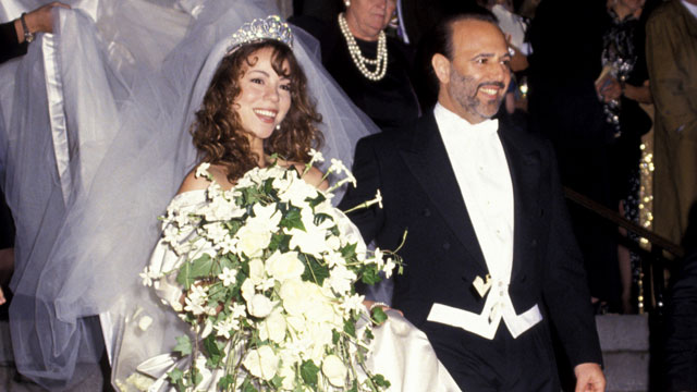 PHOTO: Tommy Mottola and Mariah Careys wedding in 1993.