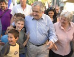 PHOTO: Uruguayan President Jose Mujica and his wife Lucia Topolansky