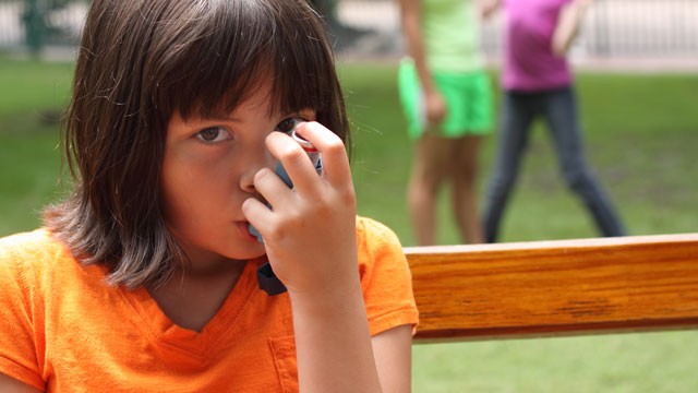 PHOTO:Girl with asthma
