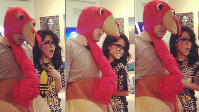 PHOTO: Becky G and turkey