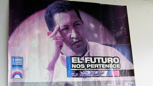 PHOTO: A Chavez campaign poster from 2006, when he ran for office for the third time.
