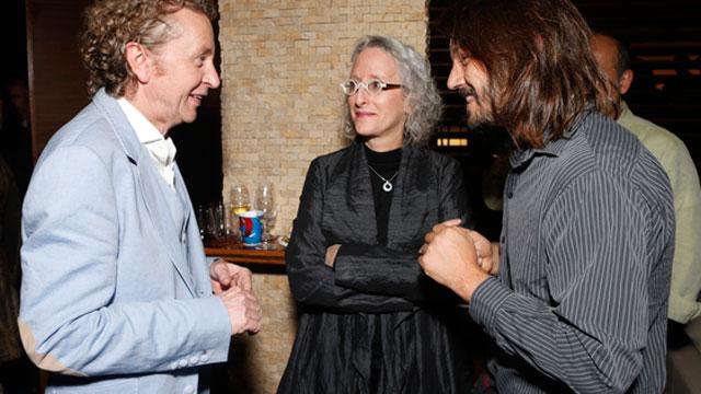 PHOTO:Hecho En Mexico producer and musical supervisor Lynn Fainchtein (center) shares a moment with director Duncan Bridgeman (left) and actor Diego Luna