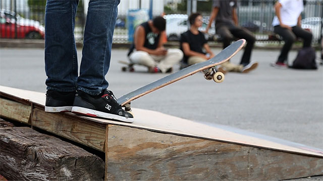 PHOTO: Skateboarder at Grand Central Skatepark in Miami, FL. (July 12, 2013)
