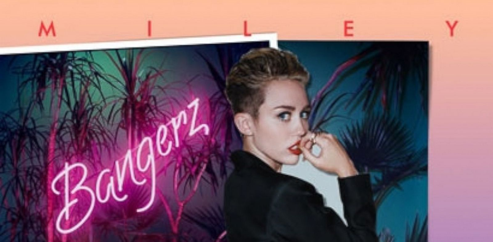 PHOTO: Miley Cyrus Bangerz album cover