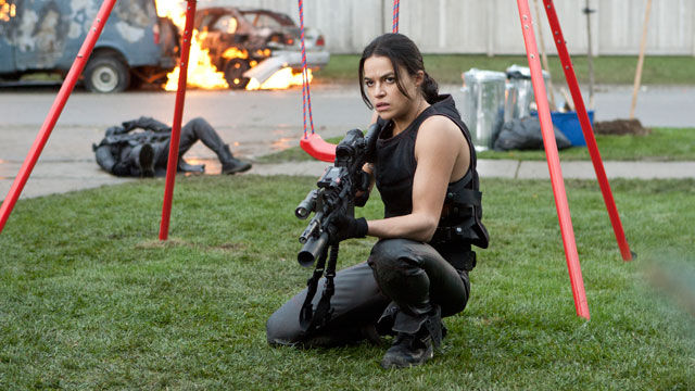 "PHOTO:Michelle Rodriguez in ""Resident Evil: Retribution."""