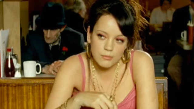 "PHOTO: Screenshot from Lily Allen's ""Smile"" music video."