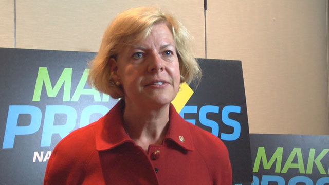 PHOTO:Senator Tammy Baldwin (D-Wisc.) spoke about youth political engagement at the Make Progress National Summit on Wednesday, July 17, 2013 in Washington, D.C.