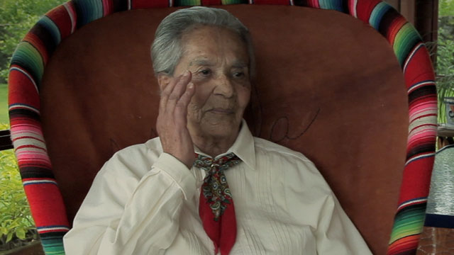 PHOTO: Chavela Vargas in the documentary Hecho En Mexico.