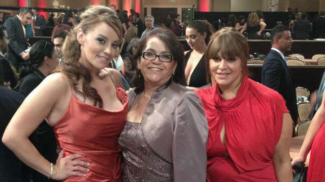 PHOTO:Rosie Rivera, their mother, and Jenni Rivera at the 27th Annual Imagen Awards