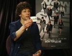"""PHOTO:Jesse Eisenberg does a card trick that he learned on the set of his new movie """"Now You See Me""""."""