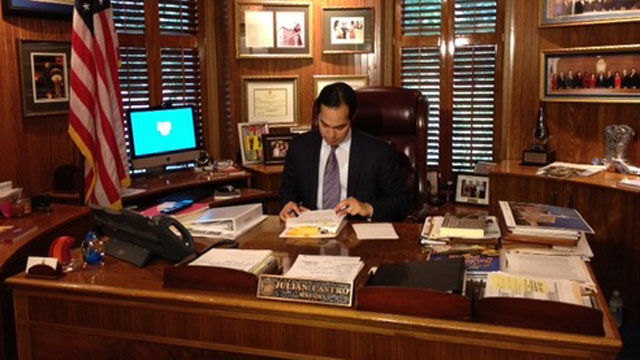 San Antonio Mayor Julian Castro at his office.