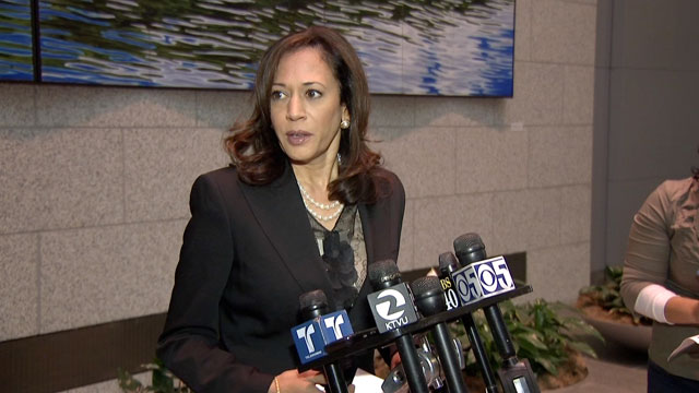 PHOTO: Kamala Harris says that immigration holds are not mandatory -- clearing longstanding confusion of local law enforcement regarding from Secure Communities.