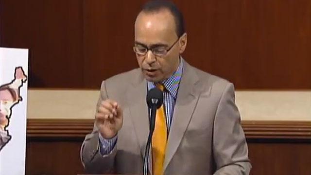PHOTO:Congressman Luis Gutierrez (D-IL) speaking on the House floor.