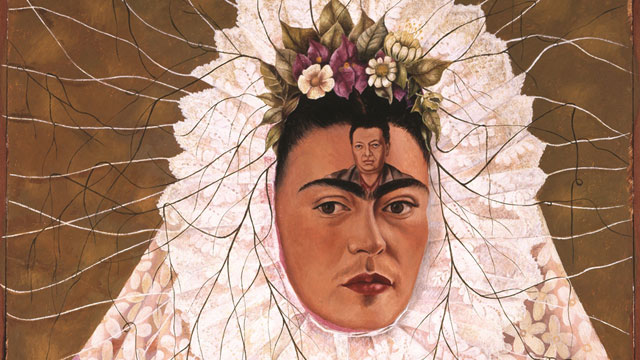 """PHOTO:""""Diego On My Mind"""" by Frida Kahlo. Part of the exhibit at the Nelson-Atkins Museum in Kansas City: Frida Kahlo, Diego Rivera, and masterpieces of modern Mexico."""