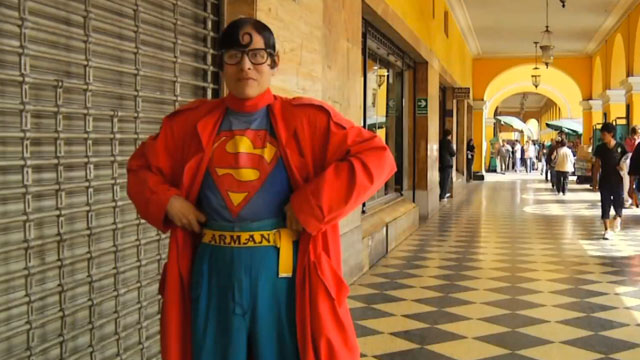 PHOTO: Avelino Chavez is Perus Superman.