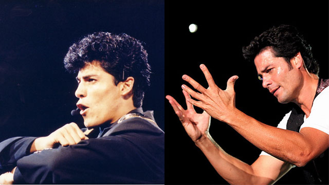 PHOTO: Chayanne at Premio Lo Nuestro in 1989 and at a concert in 2007.