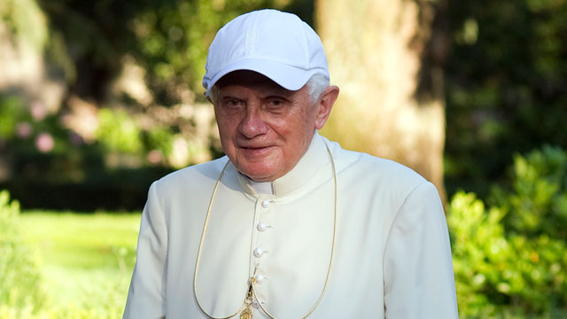 PHOTO: Pope Benedict XVI walks in the gardens of his summer residence on July 26, 2010 in Castel Gandolfo, near Rome, Italy.