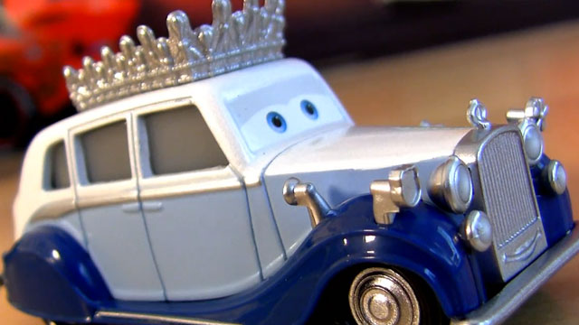 "PHOTO: Screenshot from a ""Cars 2"" collectibles video."