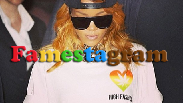 PHOTO: Rihanna shows off her love for marijuana through Instagram.