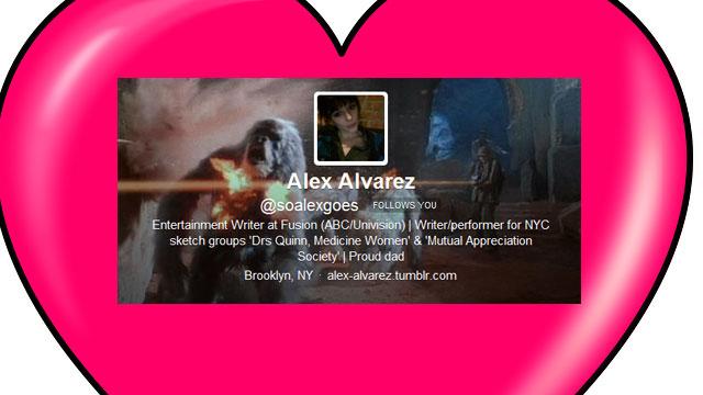 PHOTO:Entertainment reporter Alex Alvarez's most notable Twitter experience.