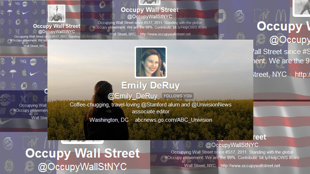 PHOTO:Reporter Emily Deruy's most notable Twitter experience.