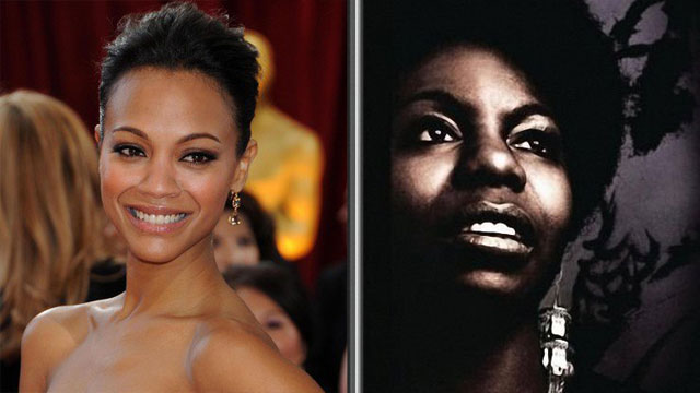 PHOTO: Zoe Saldana to play Nina Simone in next movie.
