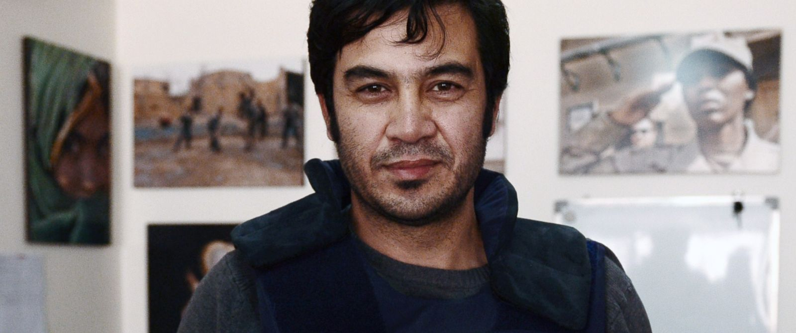 PHOTO: Sardar Ahmad, 40, a Kabul based staff reporter at the Agence France-Presse.