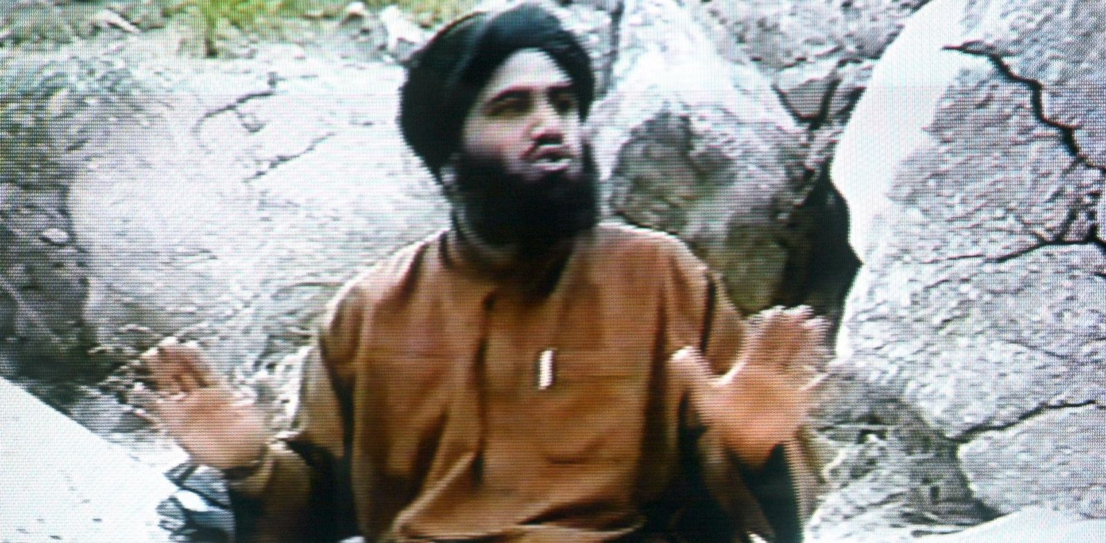 PHOTO: Sulaiman Abu Ghaith is pictured in a frame from the Middle East Broadcasting Center, which was first televised on Apr. 17, 2002.