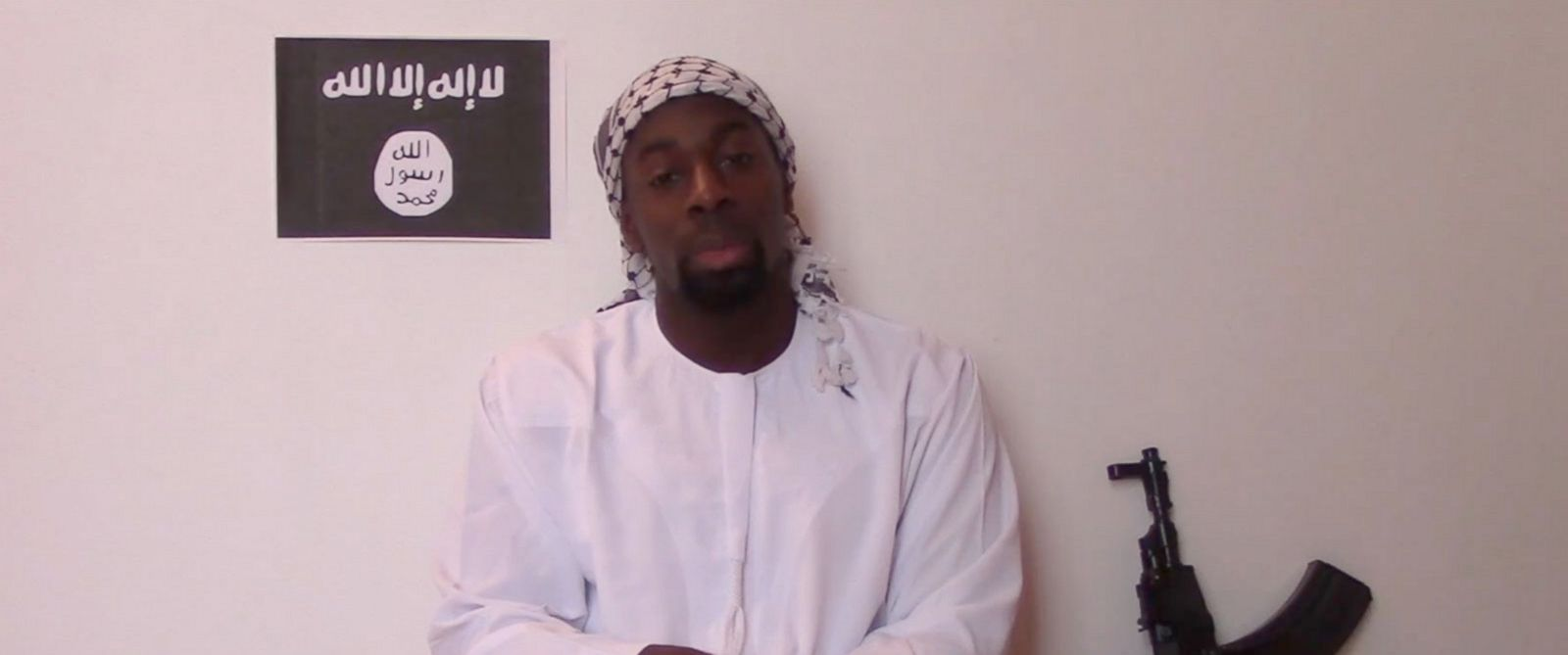 PHOTO: A man who appears to be Paris shooter Amedy Coulibaly is featured in a video online.