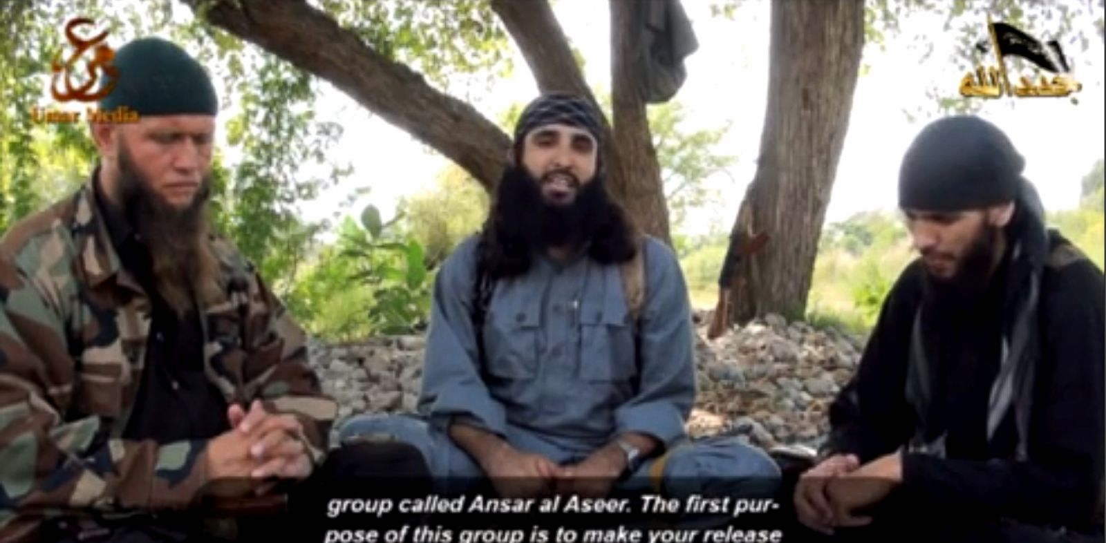 PHOTO: Pakistani militant escapee Adnan Rasheed in a July video said his Ansar al-Aseer group would free other inmates.