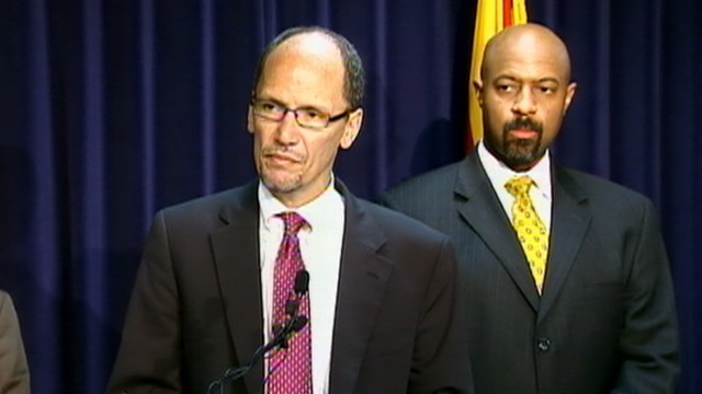VIDEO: Asst. U.S. Attorney General Thomas Perez discusses alleged violations.
