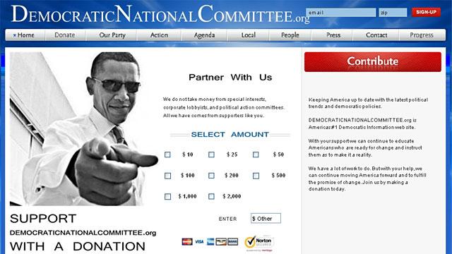 PHOTO: Scam DNC website