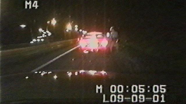 PHOTO: Ziad Jarrah receives a speeding ticket in Maryland as he heads north on I-95.