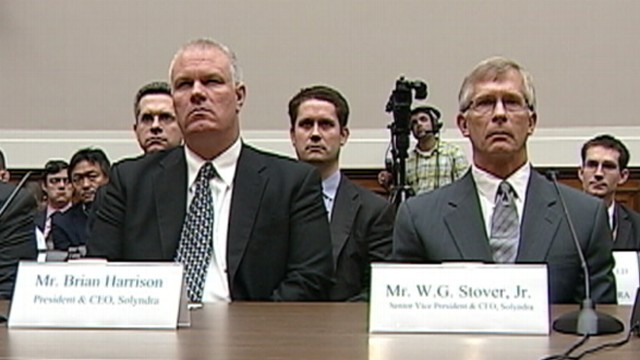 VIDEO: Bankrupt solar companys top executives were silent before House committee.