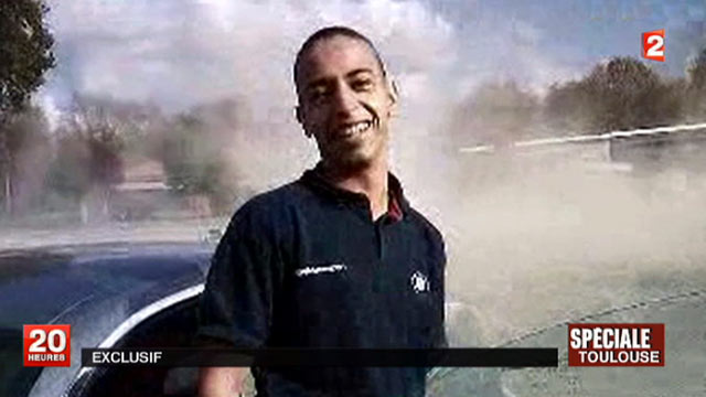 PHOTO: This undated and unlocated frame grab provided, March 21, 2012, by French TV station France 2 shows Mohammad Merah, the suspect in the killing of 3 paratroopers, 3 children and a rabbi in recent days in France.
