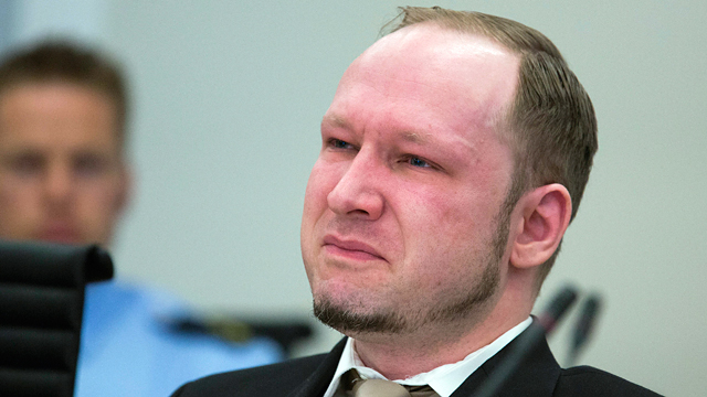 PHOTO: Norwegian Anders Behring Breivik, reacts as a video presented by the prosecution is shown in court, Oslo, Norway, April 16, 2012.