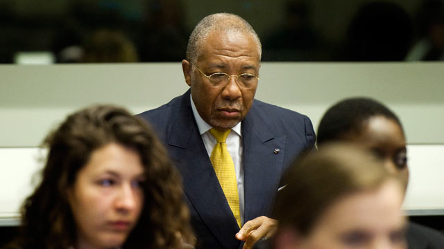 PHOTO: Former Liberian President Charles Taylor waits for the start of his sentencing judgement in the courtroom of the Special Court for Sierra Leone(SCSL) in Leidschendam, near The Hague, Netherlands, Wednesday May 30, 2012.