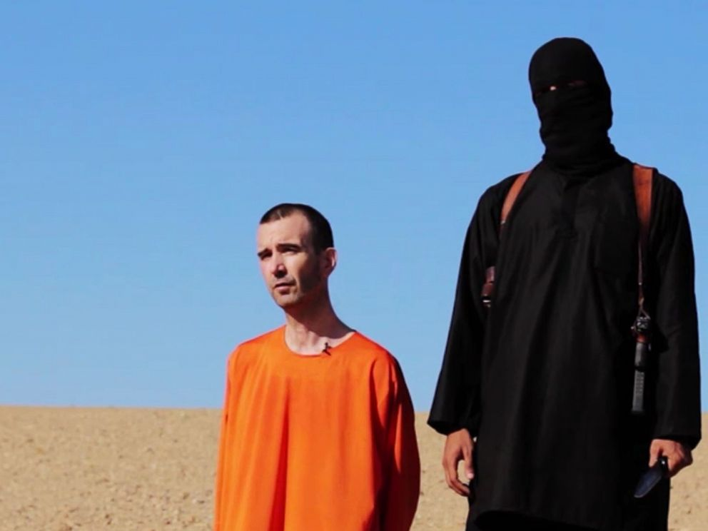 PHOTO: British citizen David Haines makes a statement to the camera in a video released online Sept. 13, 2014, that purports to show an ISIS militant executing him.