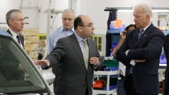 PHOTO: Joe Biden at EnerDel plant