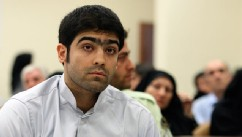 PHOTO: Majid Jamali Fashi listens to judge Abolqasem Salavati, during his trial, at the revolutionary court in Tehran, Iran in this Aug. 23, 2011 file photo.